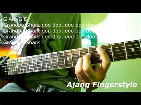 Baby Shark Guitar Tutorial | baby shark pinkfong guitar lesson chords and strumming