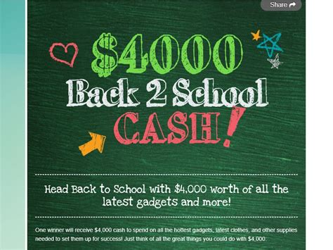 Cash Prize Sweepstakes 2016 - back to school cash sweepstakes sweepstakes fanatics