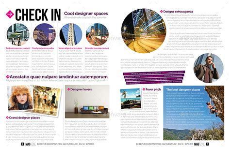 magazine layout envato magazine template indesign 52 page layout v4 by