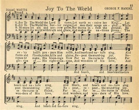 printable version of joy to the world christmas music printables joy to the world more