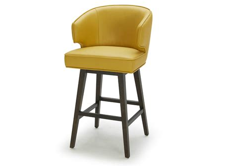 Yellow Leather Counter Stools by Bar Stool In Bright Yellow Leather Not Just Brown