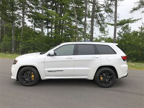 jeep trackhawk grey 2018 jeep grand cherokee trackhawk test drive review