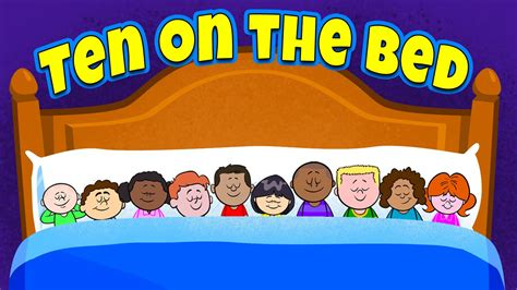 in the bedroom song ten on the bed nursery rhymes children s songs by the learning station youtube