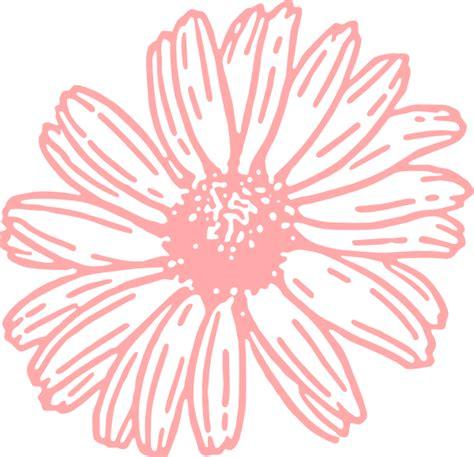 pink daisy clip art at clker com vector clip art online