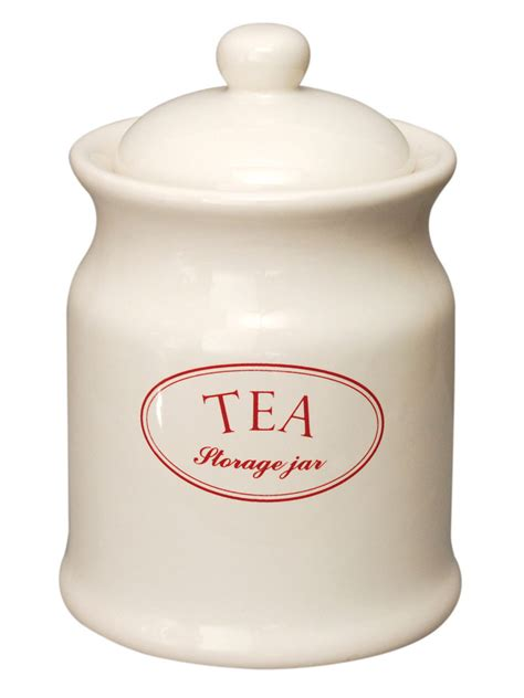 Retro Kitchen Canisters ascot cream ceramic tea coffee sugar kitchen storage jars