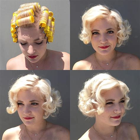 roller set hair styles for short hair vintage roller set placement i did today on