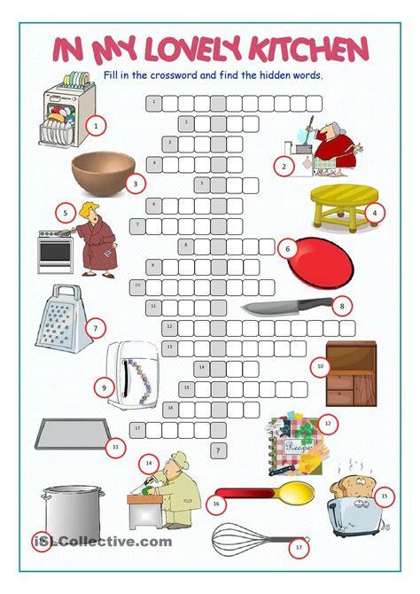 Kitchen Utensil Crossword by Common Kitchen Utensils Crossword Puzzle Besto