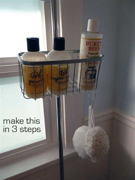 diy clawfoot tub shower caddy make
