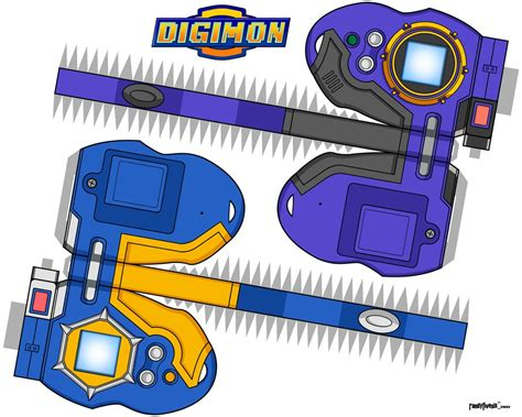 Digimon Digivice Papercraft - d tector jp shibayan koji by randyfivesix on deviantart