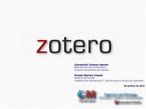 tutorial de zotero en español curso de zotero