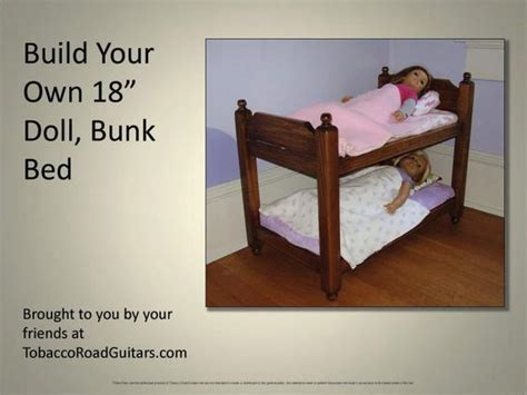 doll bunk bed plans instructions