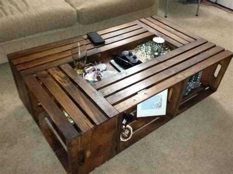Crates Coffee Table Best 25 Crate Coffee Tables Ideas On Wooden Crates Into Coffee Table Wooden Crates