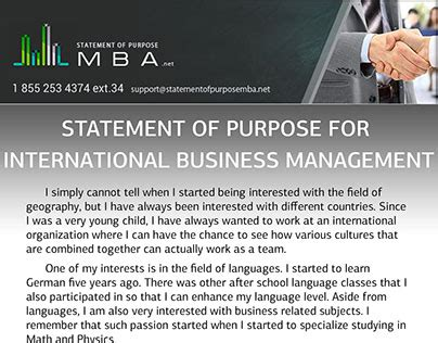 For Mba In International Business Management by Exle Sop For International Business Management On Behance