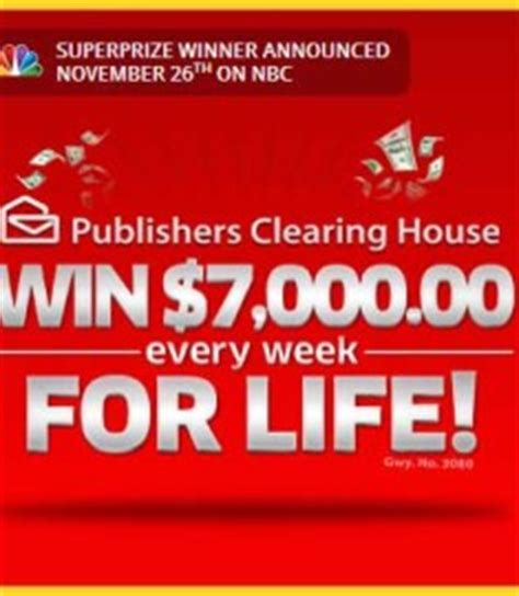 Publishers Clearing House Winner Announcement - pch set for life sweepstakes 7 grand a week for life sweeps maniac
