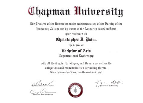 Chapamn Mba Applying For Graduation by College Chapman College Confidential