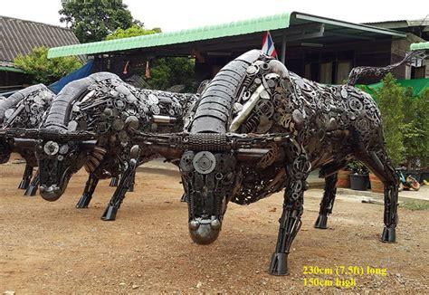 Scrap Metal Art Sculptures   Awesome Stuff 365