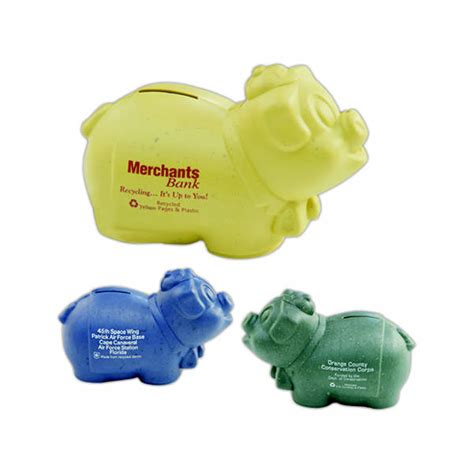 Recycled Giveaways - recycled piggy savings banks item 11052 imprintitems com custom printed