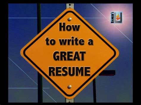 how to write a great resume from banker s u