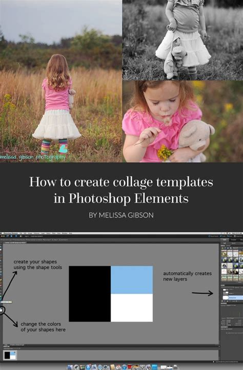 How To Make Collage Templates In Lightroom How To Create Collage Templates In Photoshop Elements Collage Template Blog And Photoshop