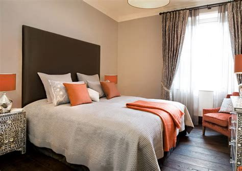 Grey And Orange Bedroom Decor by Gentle Color In The Interior Ideas For Home Garden