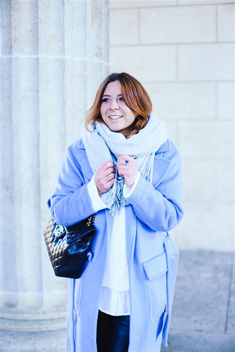 Blouse Jumbo Berlin Fashion Week 2 Light Blue Coat Black Culotte And