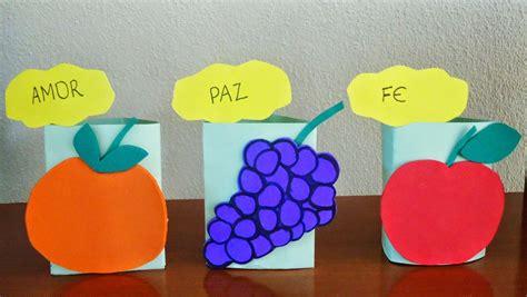manualidades escuela dominical gratis imagui estas son cajitas que tienen las figuras de los frutos del