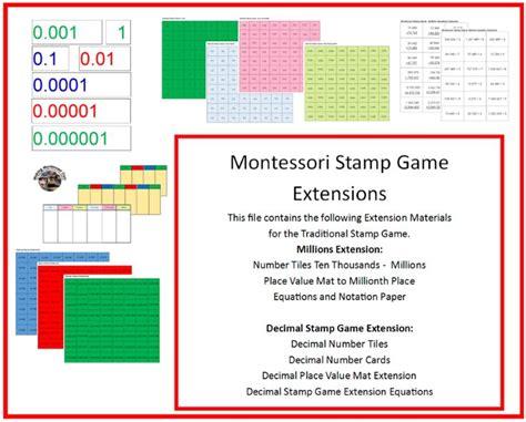 printable decimal number cards making montessori ours education printables montessori