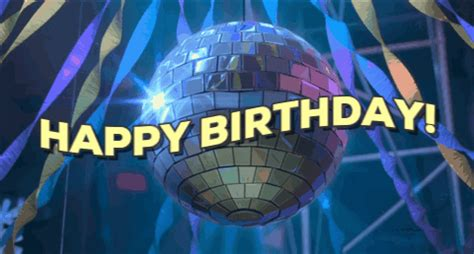birthday gif disco birthday gif by happy birthday find on giphy