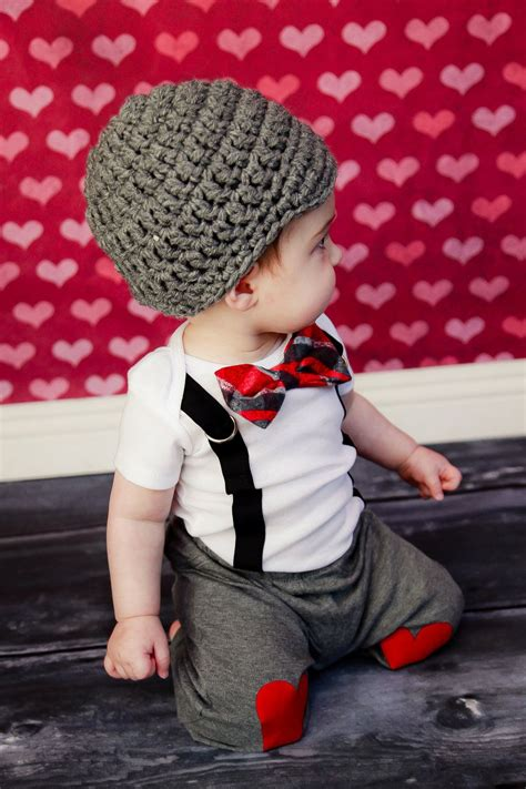 Boy Set Suspender Gapkids get the set valentines day boys bow tie onesie or shirt with suspenders and hat photo prop