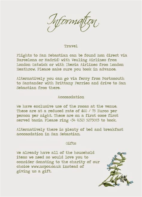Wedding Invitation Info Card by Knots And Kisses Wedding Stationery Wedding Invitation