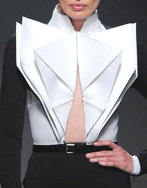 Origami Garments - 25 best ideas about origami fashion on