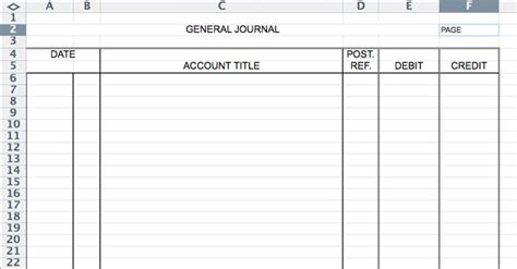 entry journal template for word 5 general journal templates formats exles in word excel