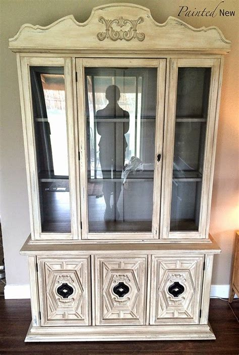 chalk paint old china cabinet china cabinet hutch makeover with chalk paint aubusson