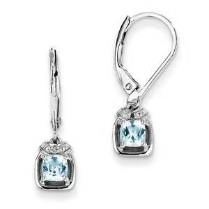 light blue topaz earrings sterling silver light blue topaz earrings