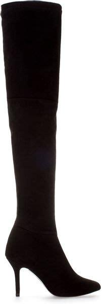 zara high heel suede boot in black lyst