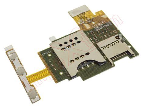Sim Sony Experia J St26 flex con conector sim tarjeta micro sd y botones laterales volumen encendido power bloqueo