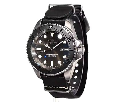 Invicta 3352 Silver Black Leather invicta s reserve stainless steel with black