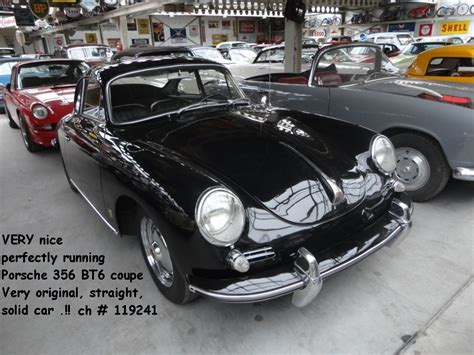 porsche coupe black porsche 356 bt6 coupe black joop stolze classic cars