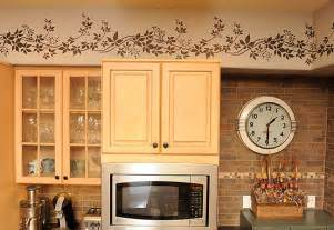 kitchen border stencil stencils from cutting edge stencils kitchen wall border wallpaper borders uk