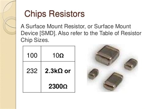 chip resistor table resistor color codes 1
