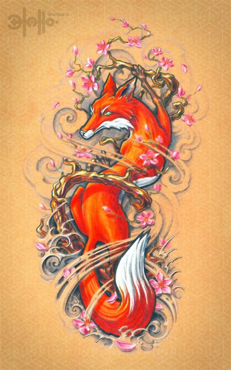 japanese fox tattoo 12 best inspirational ink images on fox