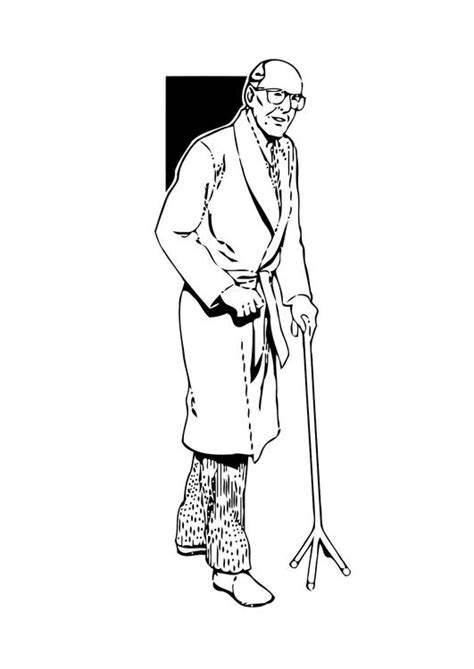 coloring page old man img 11347