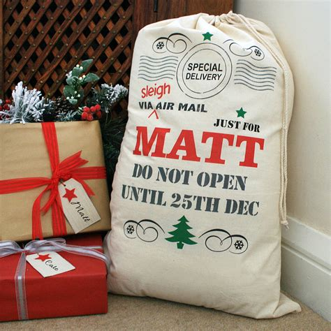 personalised christmas sack by a type of design