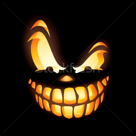 scary jack o lantern vector illustration 169 su fen low ori artiste 258623 stockfresh