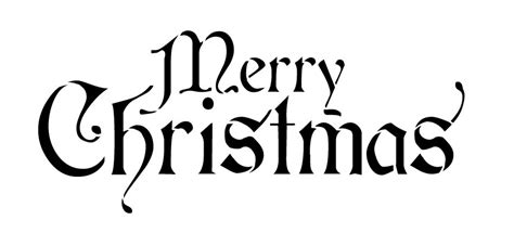 Printable Christmas Word Stencils | 4 best images of stencil christmas words printable free