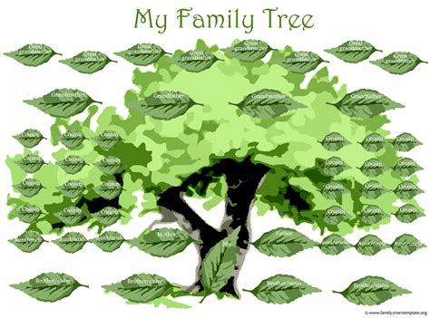 large family tree template family tree template family tree template large