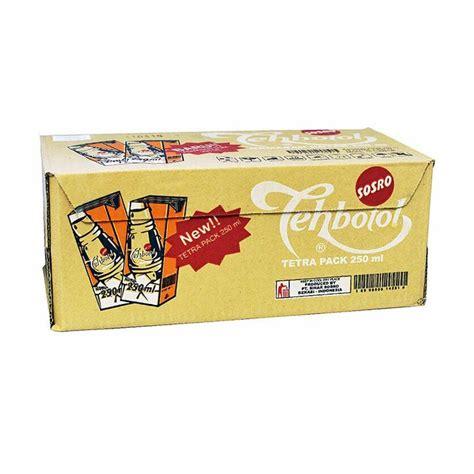 Daftar Minuman Teh Botol Sosro jual sosro teh botol tetra pack 250 ml box