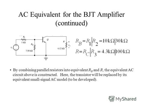 transistor ac equivalent circuit презентация на тему quot unit 6 lifiers small signal low frequency transistor lifier
