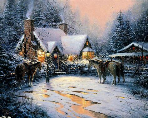 christmas wallpaper 1366 x 786 free christmas cabin wallpaper wallpapersafari