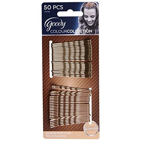 goody colour collection metallic small bobby pin black goody colour collection metallic finish bobby pin blonde